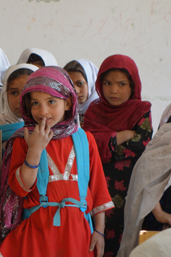 Girls in Afghanistan are being given the opportunity to go to school