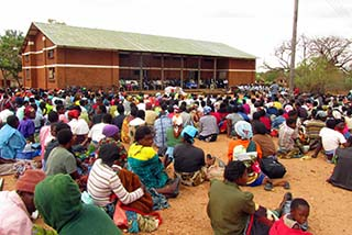 Beneficiaries during official launch-Balaka