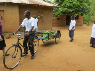 Bicycle ambulances in Malawi ensure women are able to reach health facilities for safe delivery.
