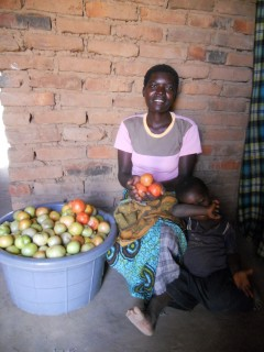 With assistance from PWS&D and EHAP, Shupe was able to start a business selling tomatoes.