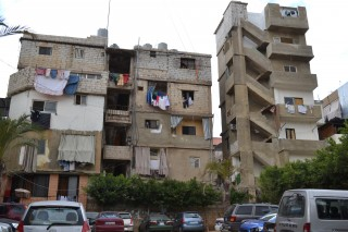 Anaoun and Leith share a small apartment with 18 other people in Beirut, Lebabon. Photo: CFGB