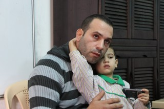 Latif Anaoun and his son Leith. Photo: CFGB