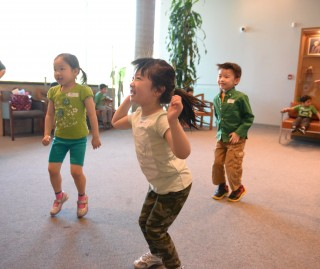 Children at the Chinese Presbyterian Preschool hopped for Nepal