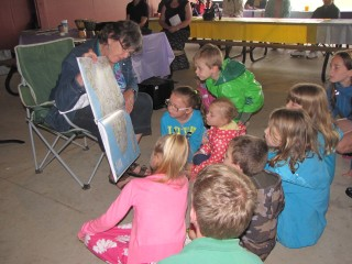 Children at Knox Presbyterian Church in Guelph taking part in the Sunday School Challenge