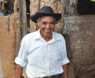 Juan Ramirez Cardon on his farm in Chamaque