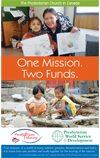 1 Mission, 2 Funds pamphlet