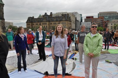 KAIROS' Mass Blanket Exercise on Parliament Hill on June 1, 2015