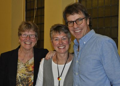 The Rev. Karen Horst with the Rev. Linda Patton-Cowie and Mike Downie