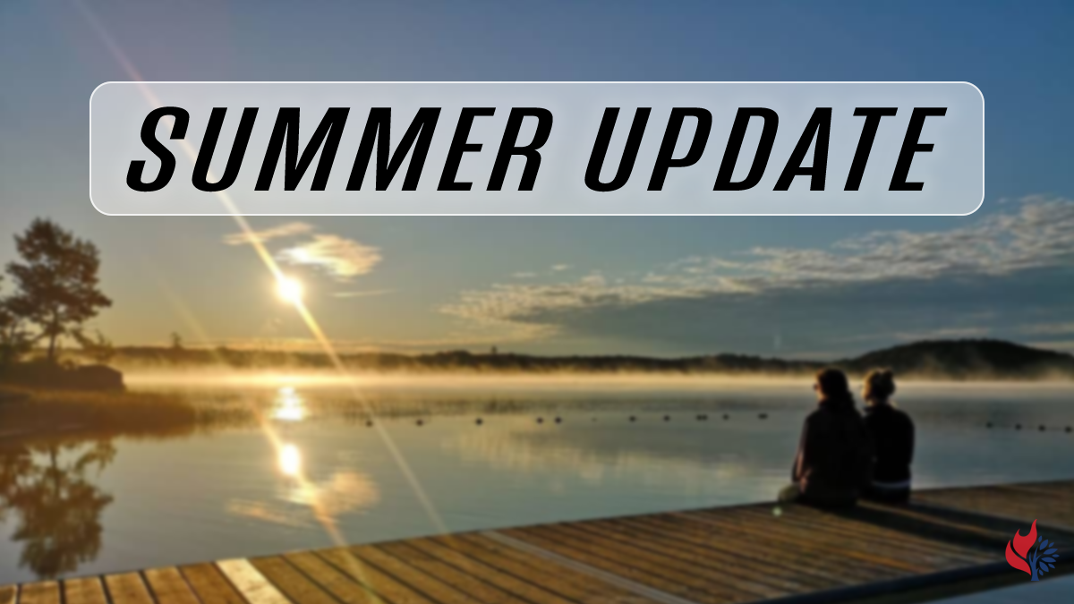 Worship slide image that can be used for highlighting summer announcements.