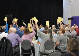 Commissioners voting