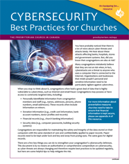"""Small cover image for """"Cybersecurity Best Practices for Churches"""" resource."""