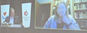 Split-screen image of the Rev. Dr. Daniel D. Scott and the Rev. Amanda Currie