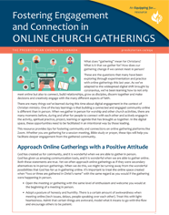Small cover image for Fostering Engagement and Connection in Online Church Gatherings