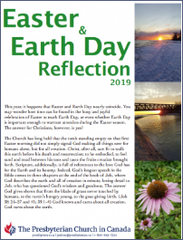 Easter & Earth Day Reflection