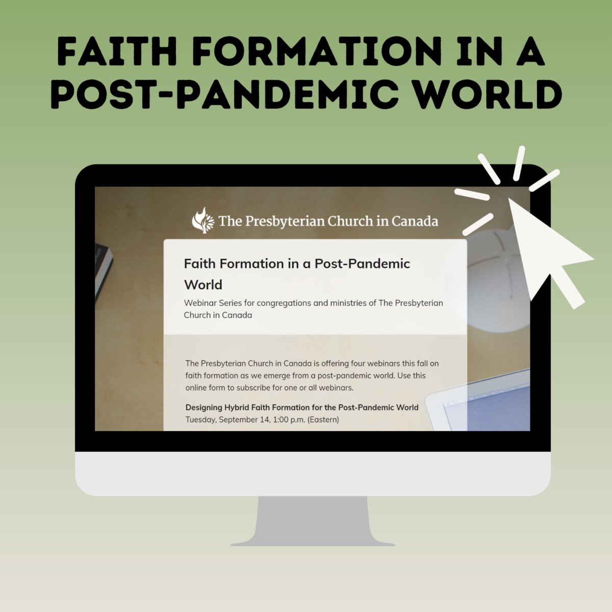 Graphic for Faith Formation in a Post-Pandemic World webinar series.