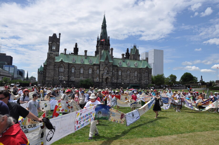 Group on Parliament Hill June 2011
