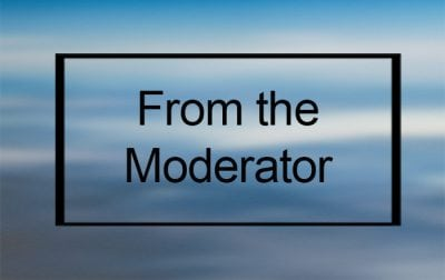From the Moderator