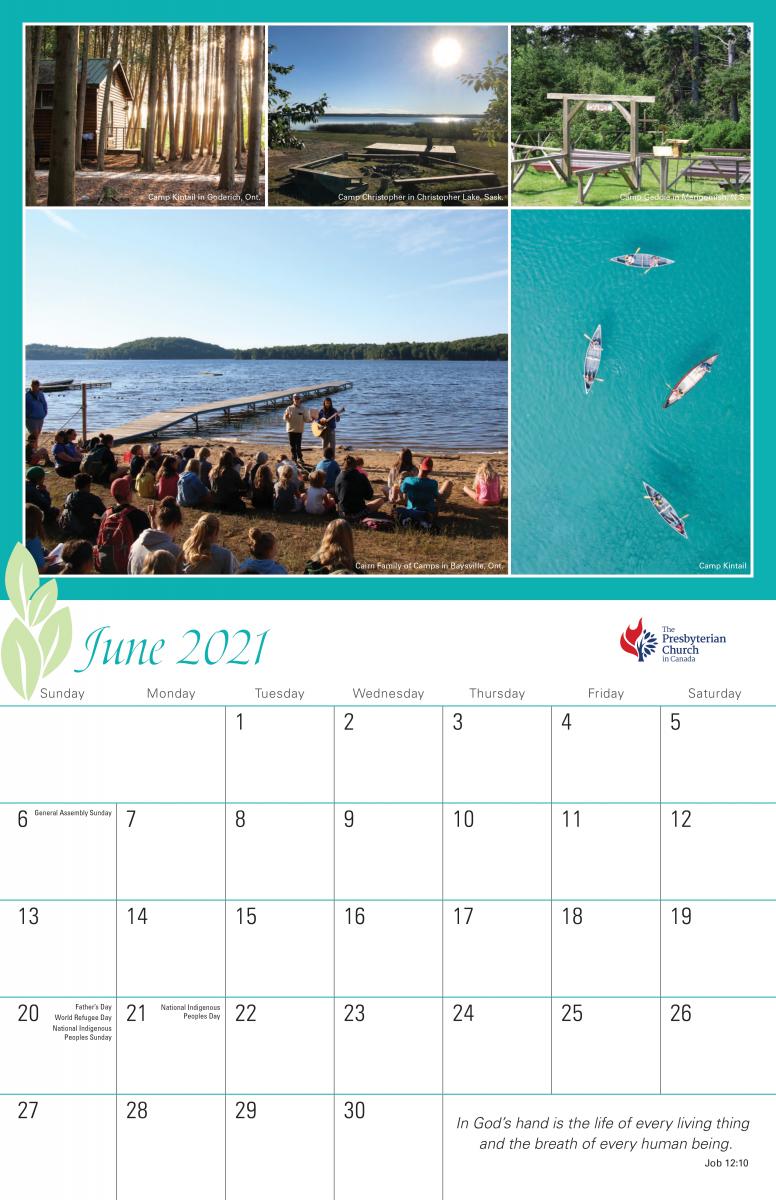 PCC 2021 Wall Calendar June