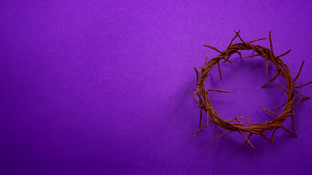 Lent worship slide image with no text.