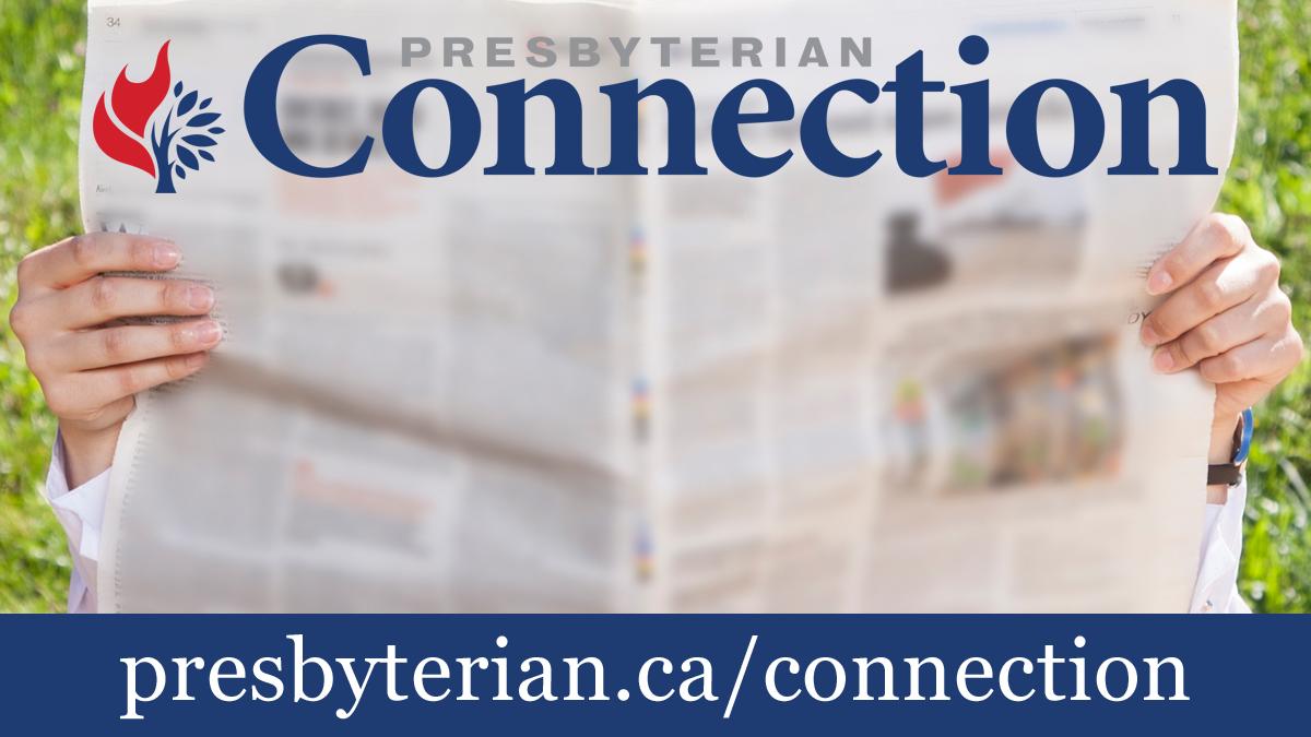 General worship slide image of Presbyterian Connection newspaper.
