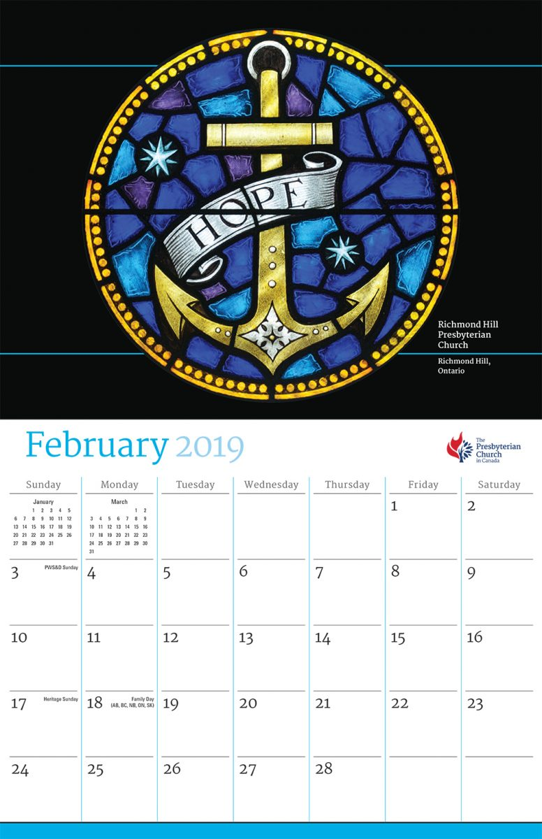 the calendar provides unique church year dates for the presbyterian church in canada as well as the lectionary and church colours
