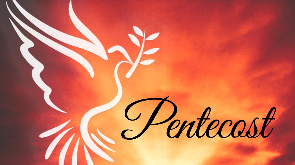 Pentecost worship slide image.