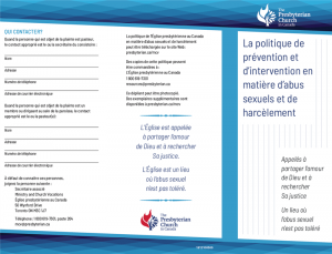 Policy for Dealing with Sexual Harassment Pamphlet (French)
