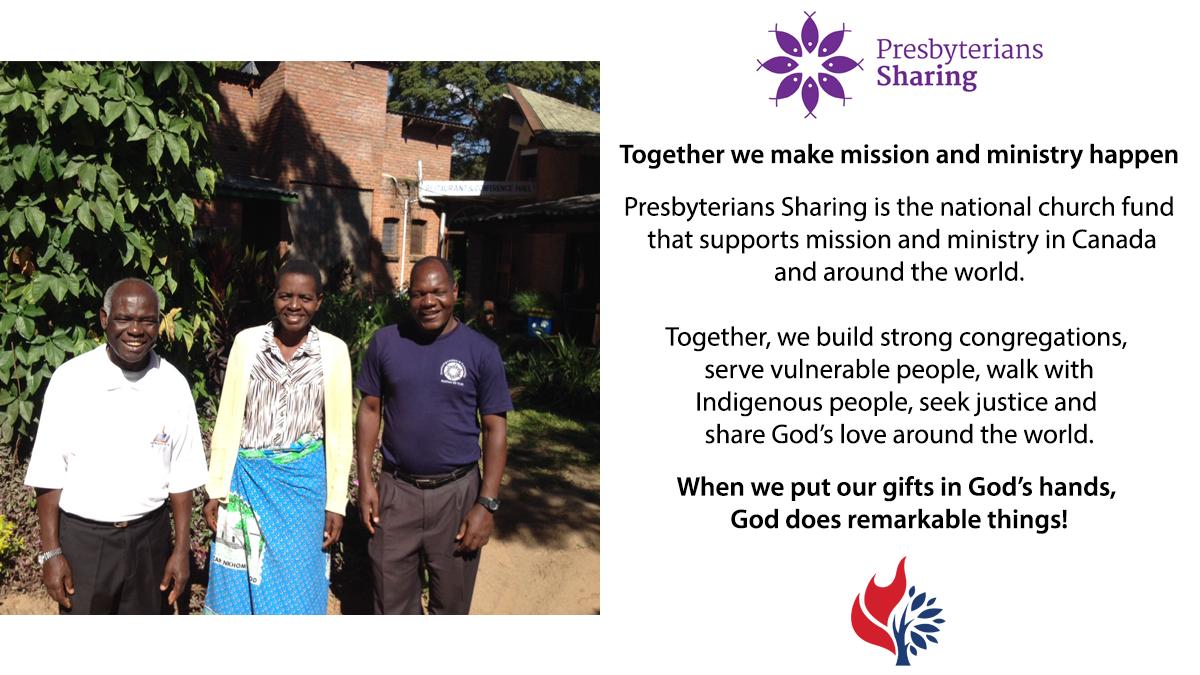 Presbyterians Sharing worship slide image with Malawi prison ministry photo.