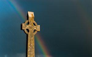 Rainbow and Cross Image