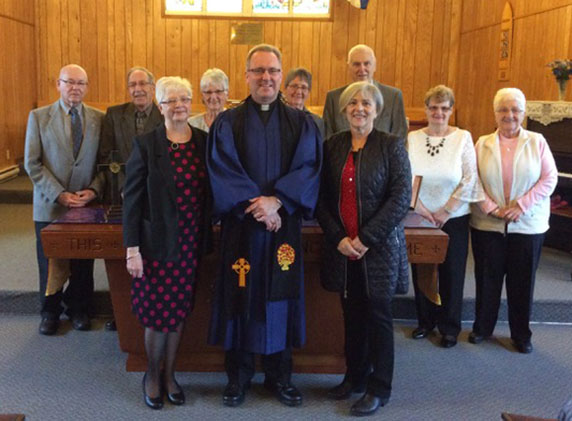 Elders and minister from St. Giles Presbyterian Church in North Sydney, Nova Scotia