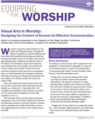 Small cover image for Visual Arts in Worship resource.