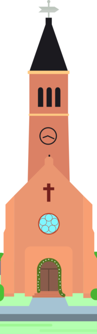 Front of church building clipart