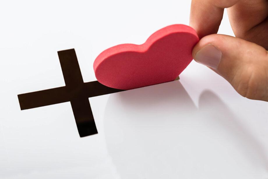 Inserting Heart Shape In Cross Slot