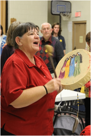 Judy Montgomery, member of the Sisters of the Drum Circle