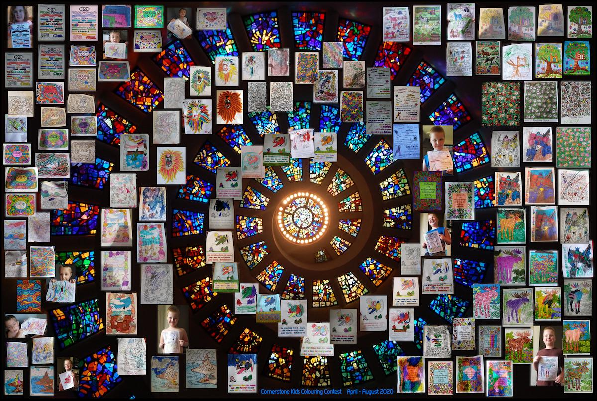 Cornerstone Ministries colouring contest collage
