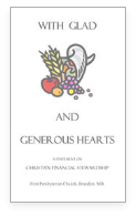 With Glad and Generous Hearts